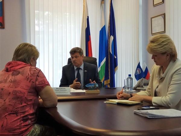 Андрей Ветлужских провел личный прием граждан