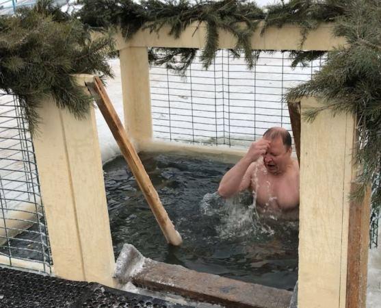 Виктор Шептий принял участие в крещенских купаниях