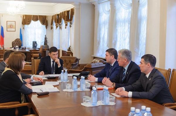 Глава области обсудил с мэром Каменска-Уральского планы развития города в рамках программы «Пятилетка развития»