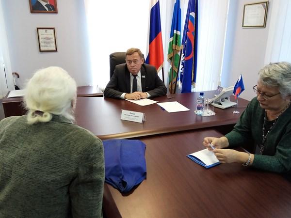 Валентин Лаппо провел личный прием граждан