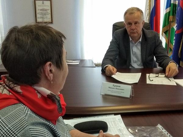 Депутат Законодательного собрания Свердловской области Михаил Ершов провел прием граждан