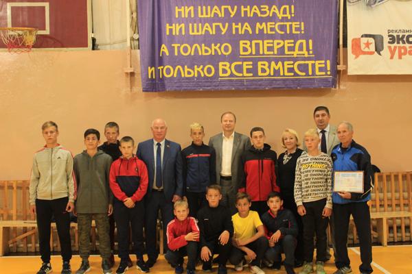 Футбольная команда «Гармония» поощрена сертификатом
