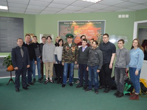 В Нижнетагильском музее памяти воинов-тагильчан, погибших в локальных войнах, состоялся Урок Мужества