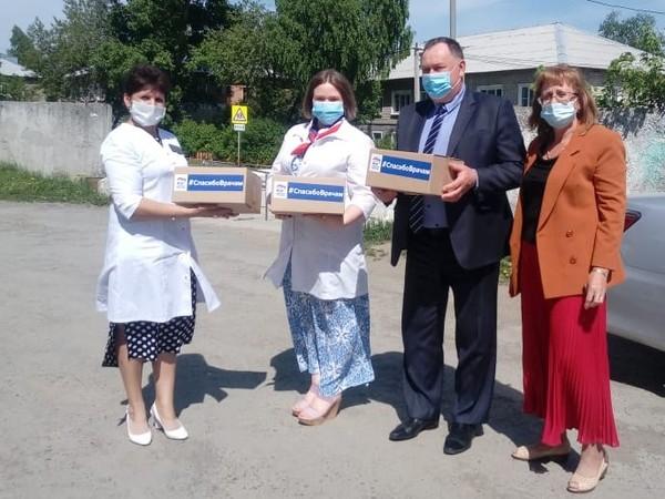 Нижнесергинские партийцы поблагодарили врачей